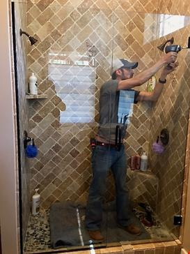 frameless glass shower door installation