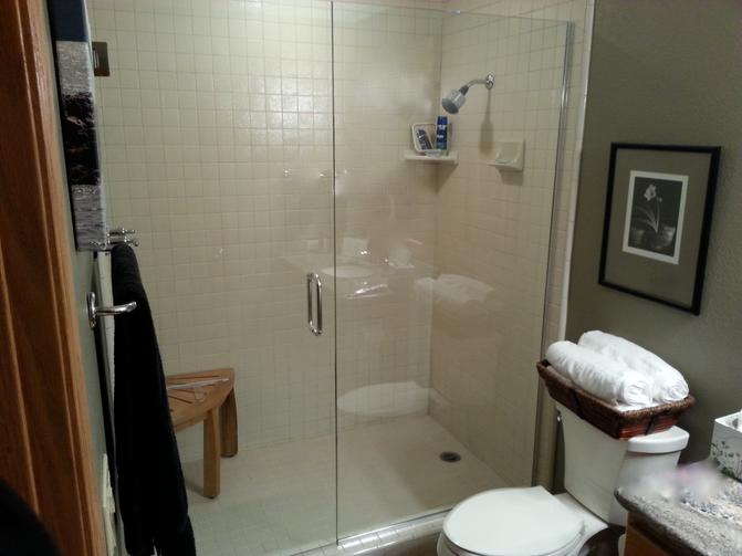 shower door glass slider
