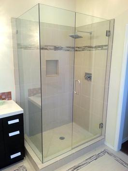 frameless custom glass shower door enclosure flagstaff