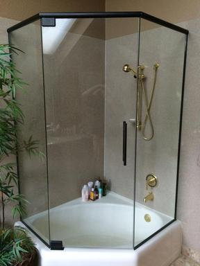 semi frameless glass shower door installation