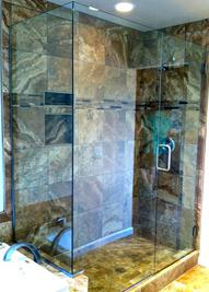 shower door installation semi frameless oil bronze
