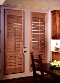 wood blinds patio door