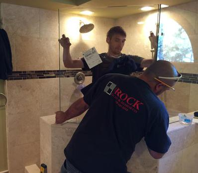 custom frameless glass shower door install