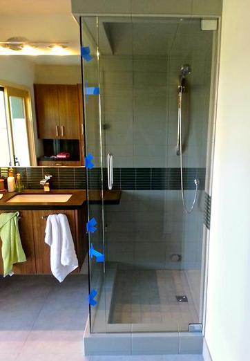 Frameless Glass Shower Door Custom Counter Flagstaff