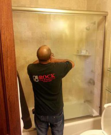 installation glass shower slider semi frameless brushed chrome flagstaff