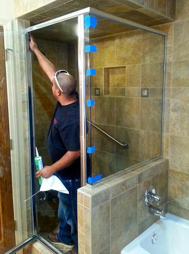 semi frameless custom glass shower door flagstaff